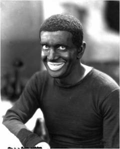 "One of the most ""Beloved"" entertainers, Al Jolson doing a parody of a black male, singing to his ""Mammy"" in blackface"