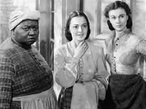 Hattie McDaniel with Olivia De Havilland and Vivian Lee