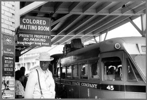 "When we were ""colored"". Separate but unequal treatment."
