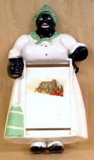Figurines, like black lawn jockies and hefty maids were popular accessories during segregation
