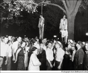 A lynching in Marion, Indiana 1930. The ultimate price black men paid during segregation