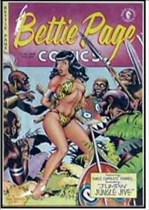 Betty Page surrounded by the Brute stereotype