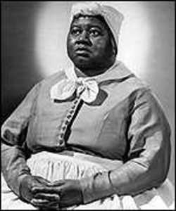 Hattie McDaniel in the most popular role Hollywood once had a black actress