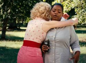 """Celia gives Minny a hug, which is supposed to make moviegoers chuckle and go """"Awww"""""""