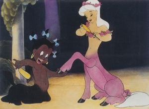 Sunflower, the stereotypical centaurette from Disney's Fantasia. Kindra is another stereotypical depiction of a black child