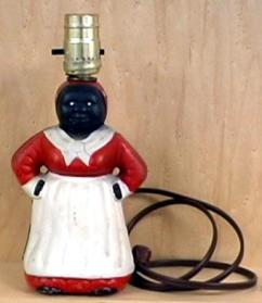 Mammy lamp. Not sold on HSN, but popular during segregation. Image from Ferris State Museum of Jim Crow Memorabilia