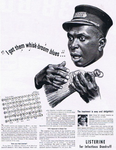Example of how the black male was used in advertising during segregation