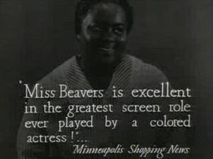 "Louise Beavers in Imitation of Life, touted as ""the greatest screen role ever played by a colored actress"""