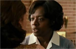 "Viola Davis saying the line that was never uttered in the book ""You are a Godless woman"""