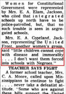 Women of Mississippi spread demeaning myths, scan from Clarion-Ledger 1963