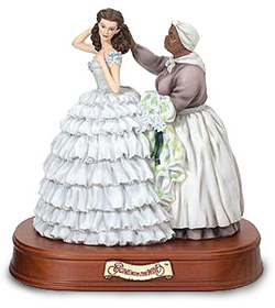 Mammy and Scarlet figurine. Perhaps A Celia and Minny figurine will be sold by Franklin Mint