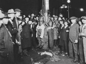Duluth Lynching used as a  postcard