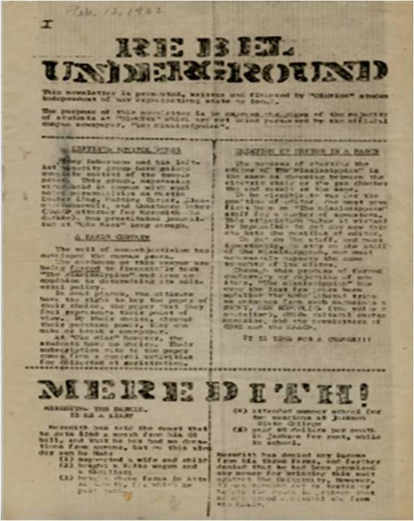 Rebel Underground Feb 1962