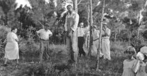 "The Lynching of Rubin Stacy in Florida. This was ""entertainment"" for some bigots. Note the little girl and women who don't appear shocked or appalled."