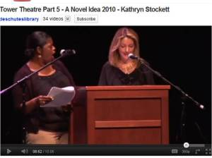 The spoilt cootchie reading, where Stockett voices Minny