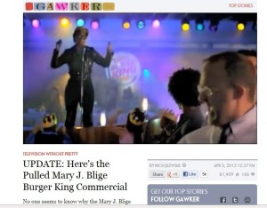 Mary J Blige Chicken loving Burger King commercial
