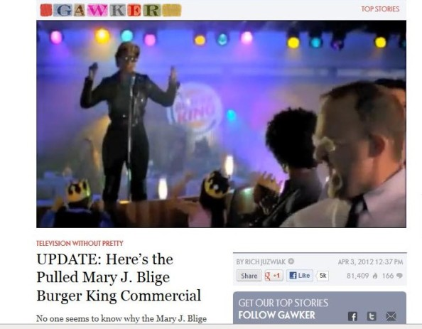 Mary J Blige Chicken loving Burger King commercial