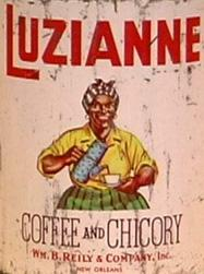Luzianne coffee and chicory image from the Ferris State Jim Crow Museum