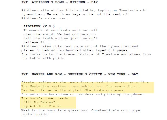 how to start a scene in a screenplay