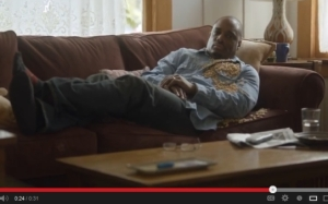 Cheerios commercial with an interracial couple. Charles Malik Whitfield, of the Temptations mini-series fame, plays the father.
