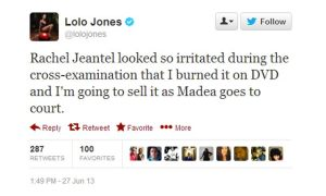 Lolo Jones tweet, which backfired on the sprinting star