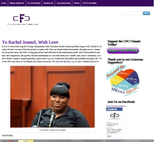 To Rachel Jeantel, with love. Website collects messages of support