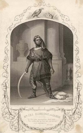 Ira Aldridge, a black actor in England during the mid 1800s.