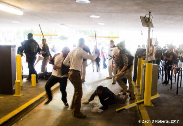 Neo Nazis attack black man in Charlottesville