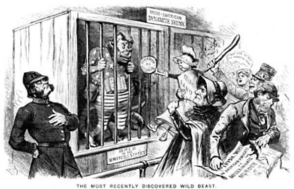 Racist anti Irish cartoon