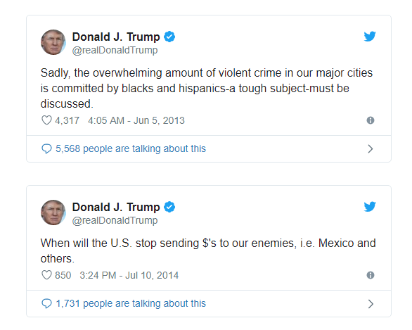 Tweets from Trump