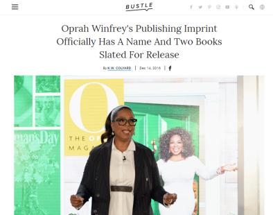 Oprah publishing article